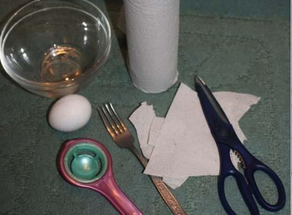 все что понадобится для приготовления яичной маски
